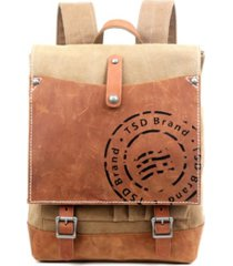 tsd brand super horse canvas backpack