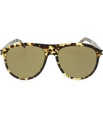 saint laurent saint laurent sl 432 slim yellow havana sunglasses
