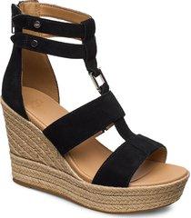 w kolfax sandalette med klack espadrilles svart ugg