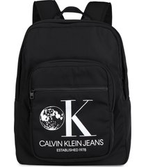 calvin klein jeans printed techno canvas backpack
