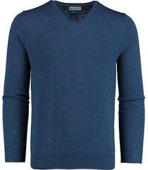 bos bright blue aron v-neck pullover 20305ar21bo/262 used blue