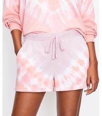 loft lou & grey tie dye cozy terry shorts