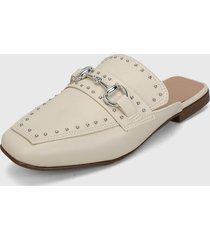 slipper blanco hueso-plateado zatz