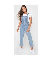 macacão jeans dress to slim vintage azul