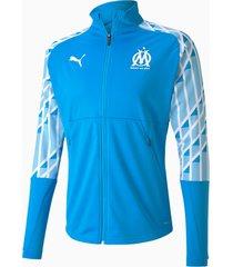 olympique de marseille stadium voetbaljack voor heren, blauw/wit, maat l   puma