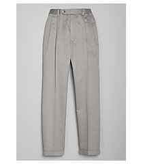 traveler collection traditional fit pleated front twill pants - big & tall clearance by jos. a. bank