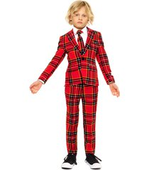 boy's opposuits lumberjack two-piece suit with tie