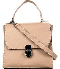 bolsa shoestock satchel safiano feminina