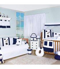 quarto completo padr príncipe sonhador padroeira baby padrão americano azul marinho