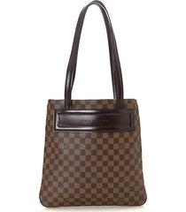 clifton damier ebene coated canvas shoulder bag
