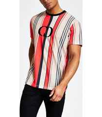 mens criminal damage red chest logo t-shirt