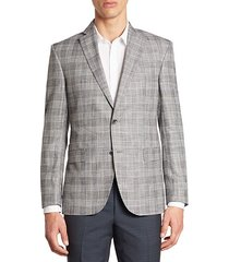 collection multi plaid bamboo jacket