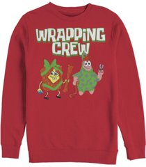 men's spongebob squarepants wrapping crew sweatshirt