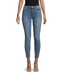 7 for all mankind women's gwenevere cropped skinny jeans - kelly lane - size 31 (10)