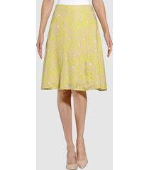kjol alba moda limegrön::rosa