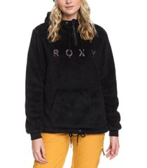 roxy juniors' warmflight fleece hoodie
