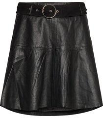 parker leather skirt kort kjol svart notes du nord