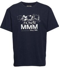 bobo t-shirt t-shirts short-sleeved blauw wood wood