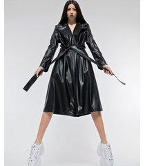 płaszcz / sukienka typu trencz ekoskóra