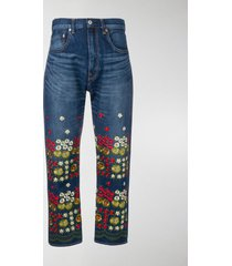 junya watanabe floral embroidered jeans