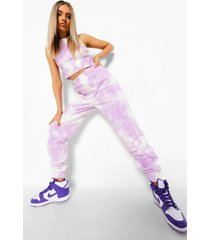 tie dye hemd en joggingbroek set, purple