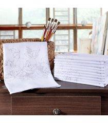 kit 12 panos de copa 44cm x 0,72cm desenho para pintar sortido - panosul