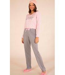 pijama manga longa fem estrelas 141078 mensageiro dos sonhos