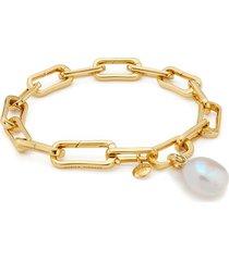 gold vermeil alta capture and pearl bracelet set