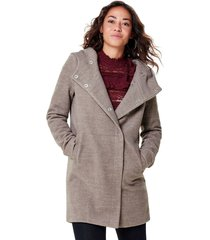 abrigo only beige - calce regular