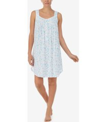 eileen west floral-print sleeveless chemise nightgown