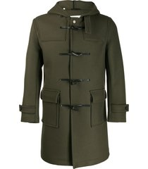 mackintosh weir wool duffle coat - green
