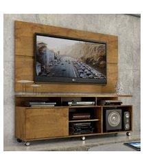 """rack com painel home leblon 1,6 m para tv 55""""  castanho"""