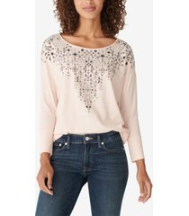 lucky brand drop-shoulder easy long-sleeve t-shirt