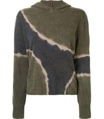 raquel allegra tie-dye relaxed-fit hoodie - multicolour