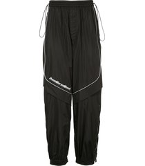 juun.j oversized track pants - black