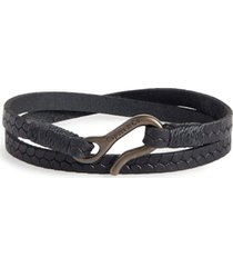 men's caputo & co. embossed leather wrap bracelet