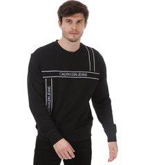 mens logo tape fashion sweatshirt