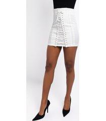 akira ammo x akira bend and snap lacey corset mini skirt