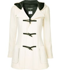 chanel pre-owned duffle coat - white