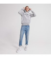 buzo hoodie cerrado para hombre core logo sport stripe hood ub superdry