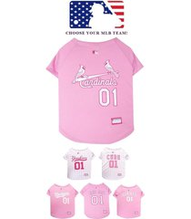 pink mlb baseball dog jersey * choose your team * sports fan pet puppy tee shirt