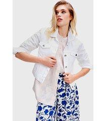 chaqueta tommy hilfiger blanco - calce ajustado