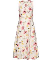 sleeveless midi dress knälång klänning vit gap