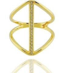 anel dona diva semi joias largo faixa