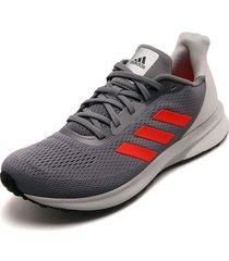 tenis running gris-naranja adidas performance astrarun m