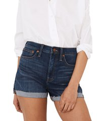 madewell high waist denim shorts, size 25 in danny wash at nordstrom