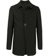 1017 alyx 9sm fine-ribbed buttoned jacket - black
