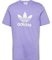adicolor classics trefoil t-shirt t-shirts short-sleeved lila adidas originals