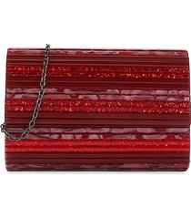 kurt geiger london women's party envelope convertible clutch - red