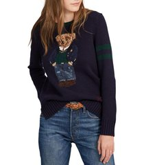 chaleco bear wool-blend azul polo ralph lauren